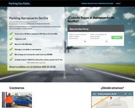 Sitio web de Parking Aeropuerto Sevilla