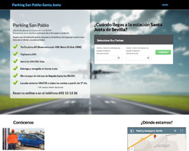 Sitio web de Parking San Pablo Santa Justa