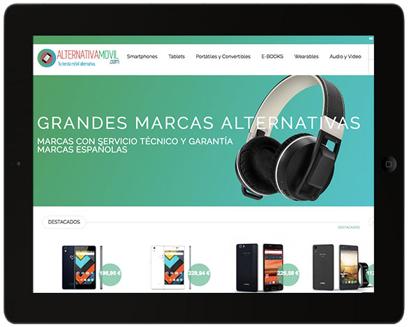 Tienda online de Alternativa Movil, venta de dispositivos móviles, tablets y wearables