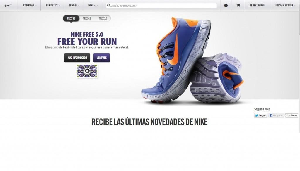 Nike psicología colores ecommerce