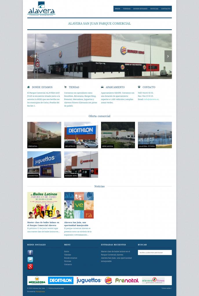 Diseño web parque comercial Alavera