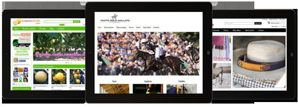 Imagenes de tiendas online que hemos diseñado