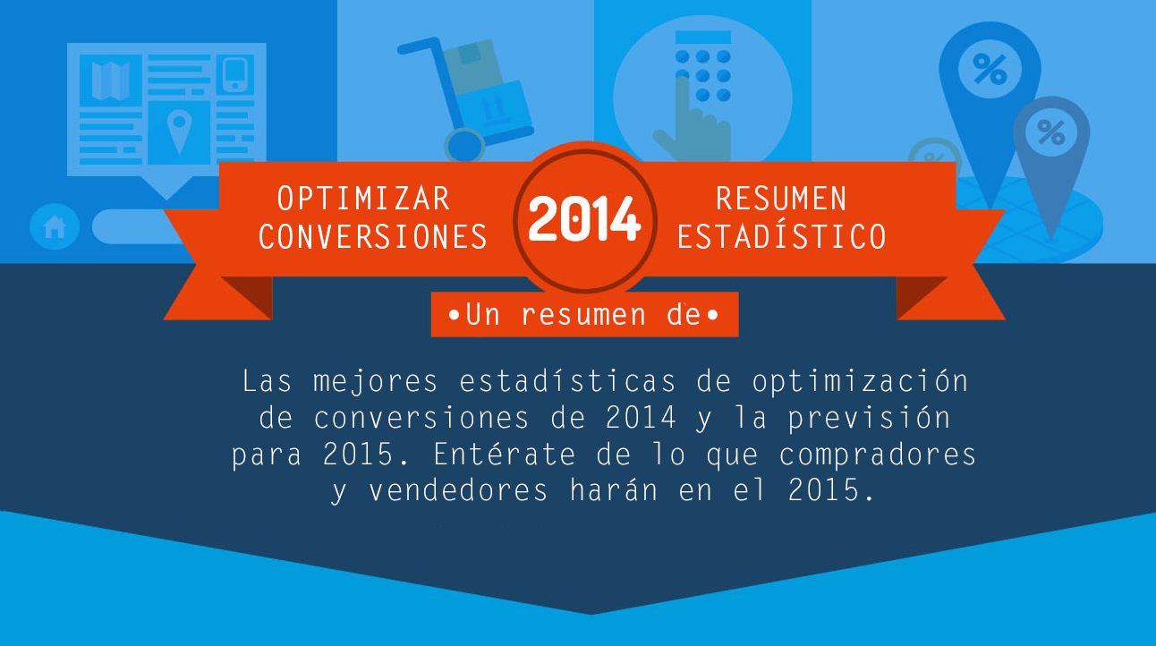 Estadísticas de optimización de las conversiones en 2014. Infografía