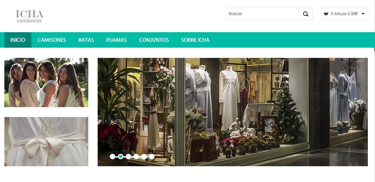 Prestashop  para la tienda online de camisones Icha