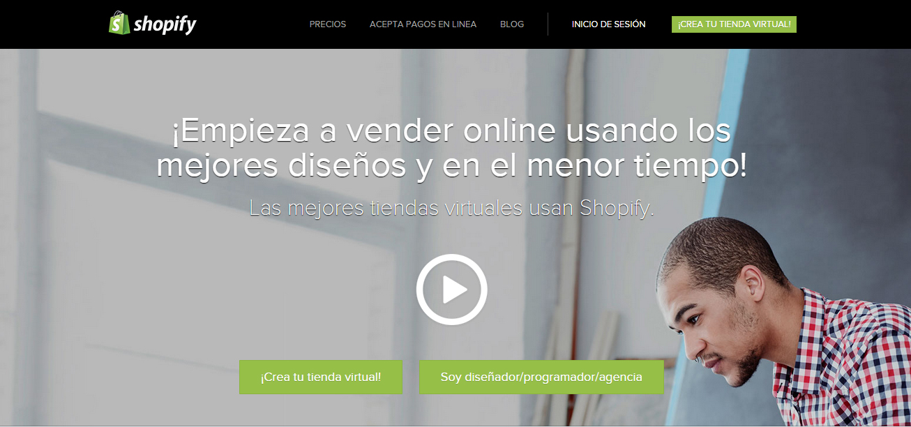 Una de las opciones para montar tu tienda online es con shopify