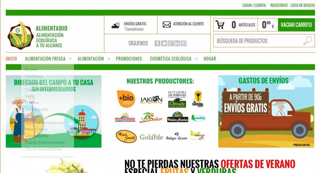 diseño tienda online de alimentabio