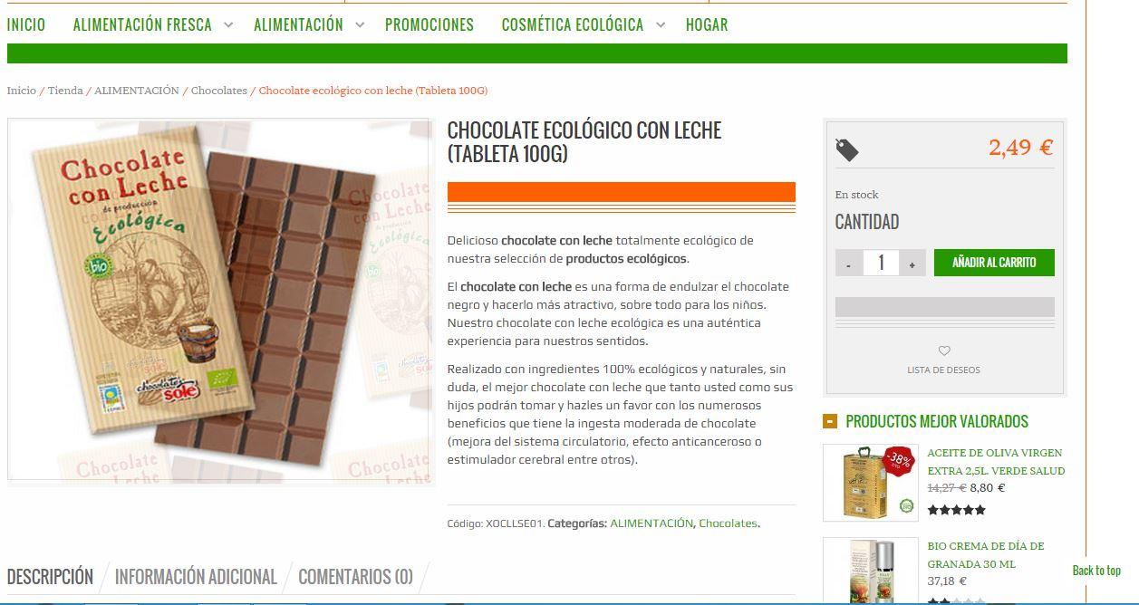 tienda online de la pagina de producto de alimentabio