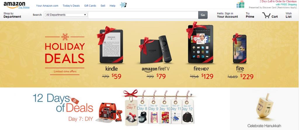promociones de navidad en las tiendas online