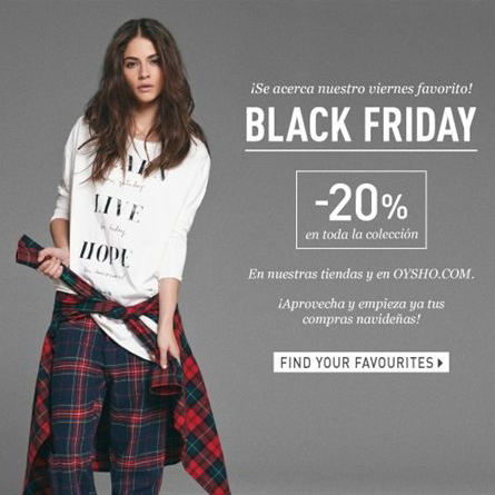 Zara se promociona para el black Friday