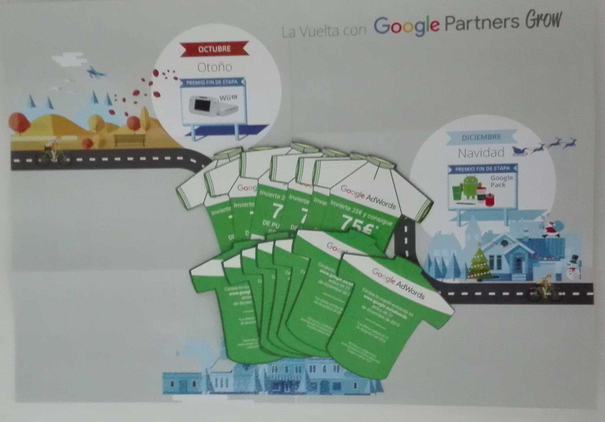 Caja de la vuelta de Google partners