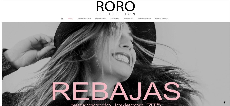 Diseño de tienda online RORO Collection