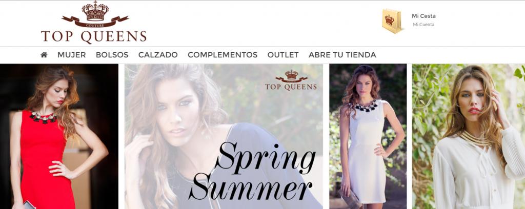 diseño tienda online TopQueens