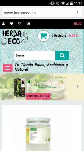 diseño tienda online de Herbaeco