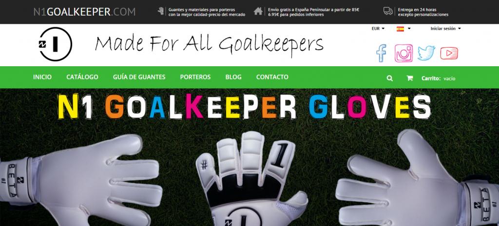 diseño tienda online n1 goalkeeper