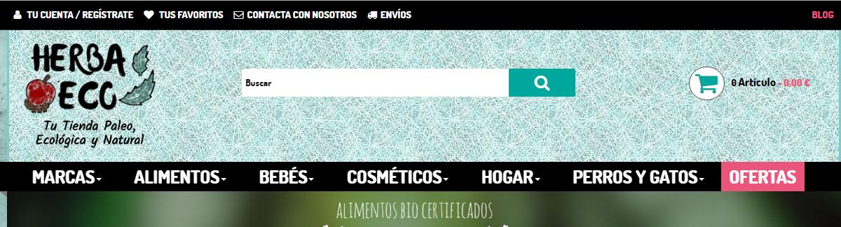 Estrenamos diseño de tienda online de Herbaeco