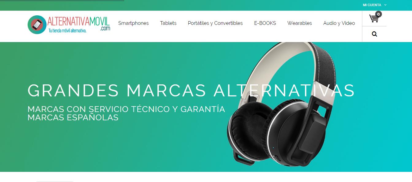 Nuevo diseño de tienda online: Alternativa Móvil
