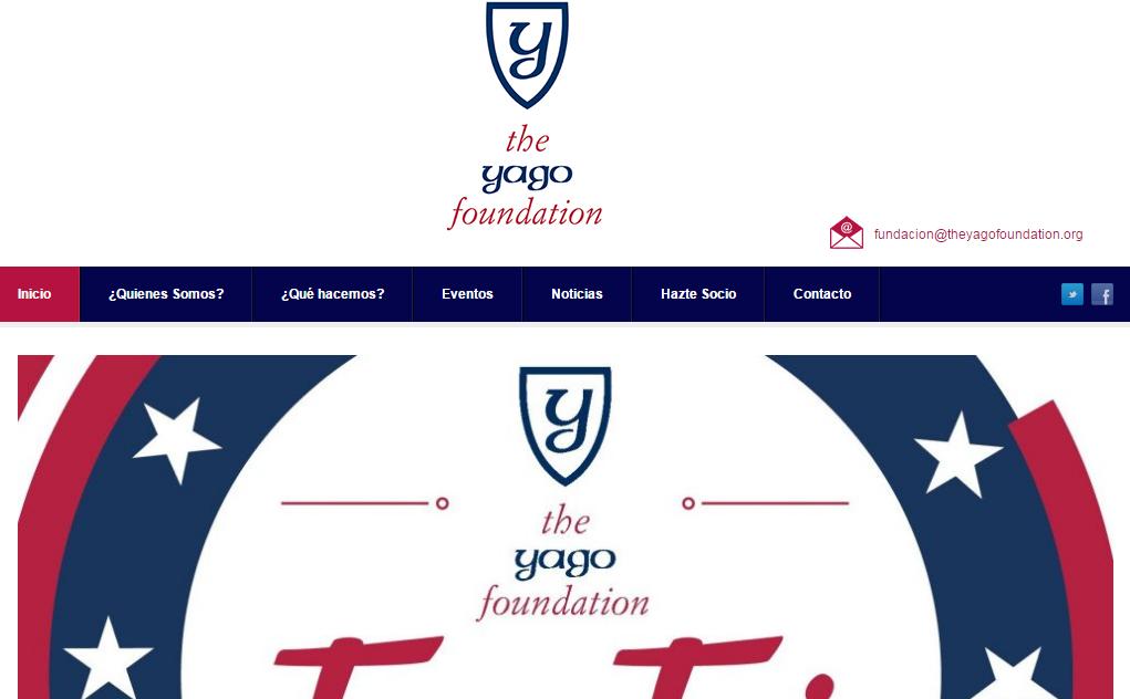 diseño web yago foundation