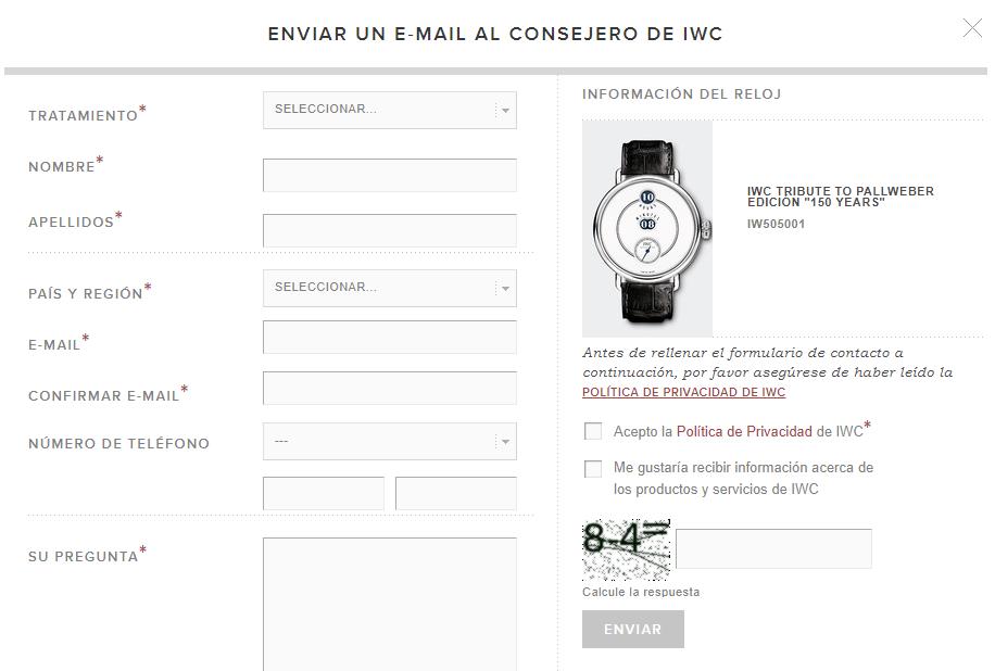 tiendas de lujo online reloj