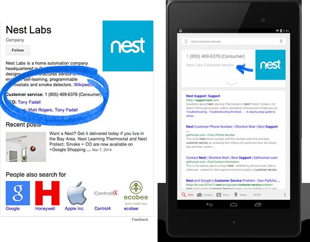 apariencia en google información