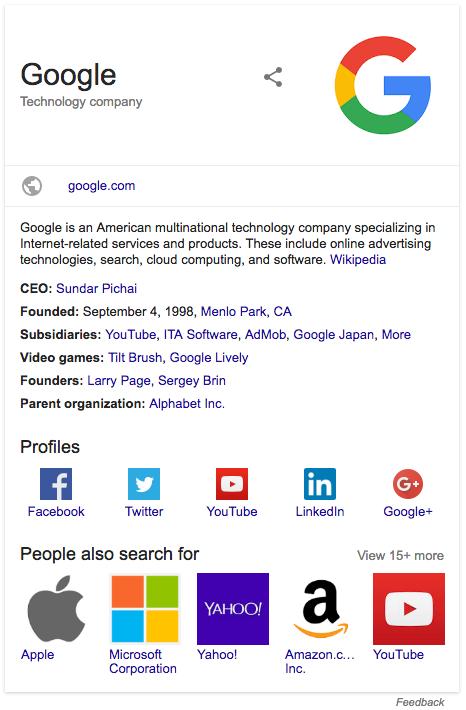 apariencia en google logo