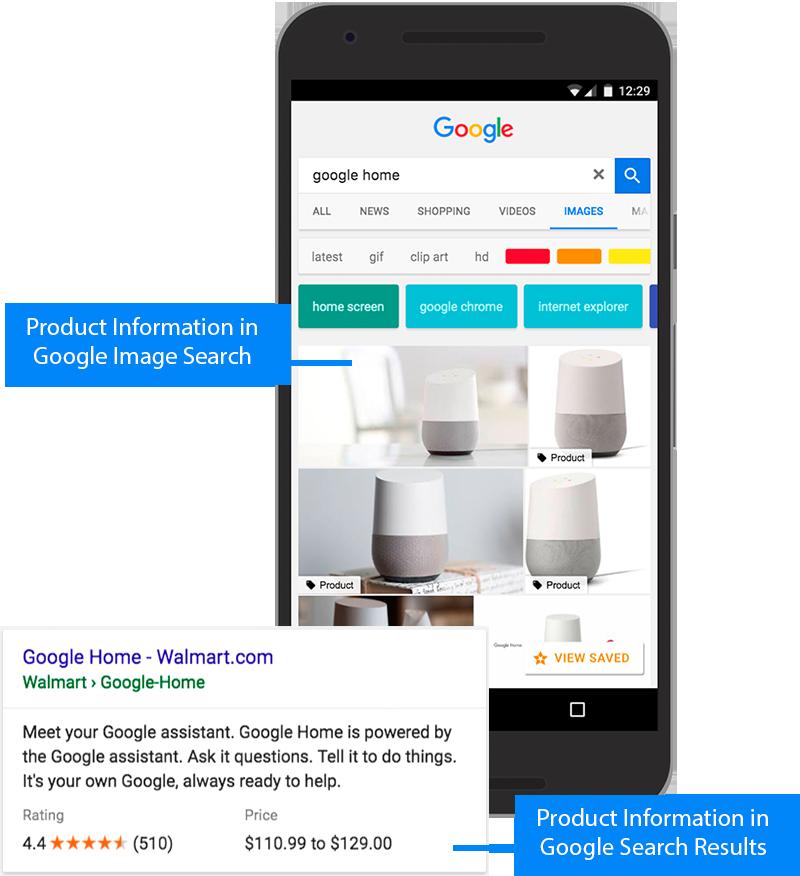 apariencia en google productos