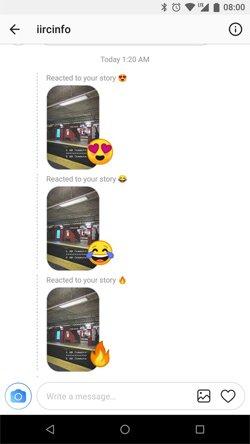 funciones instagram reacciones