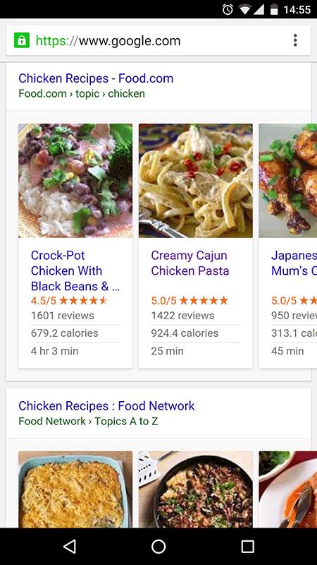 apariencia en google artículos