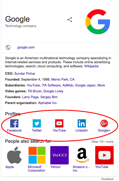 apariencia en google social