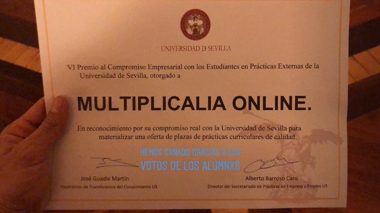 Premio de la Universidad de Sevilla al Compromiso Empresarial