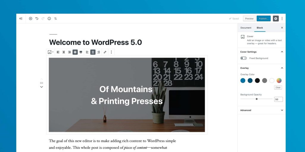 Gutenberg wordpress 5.0