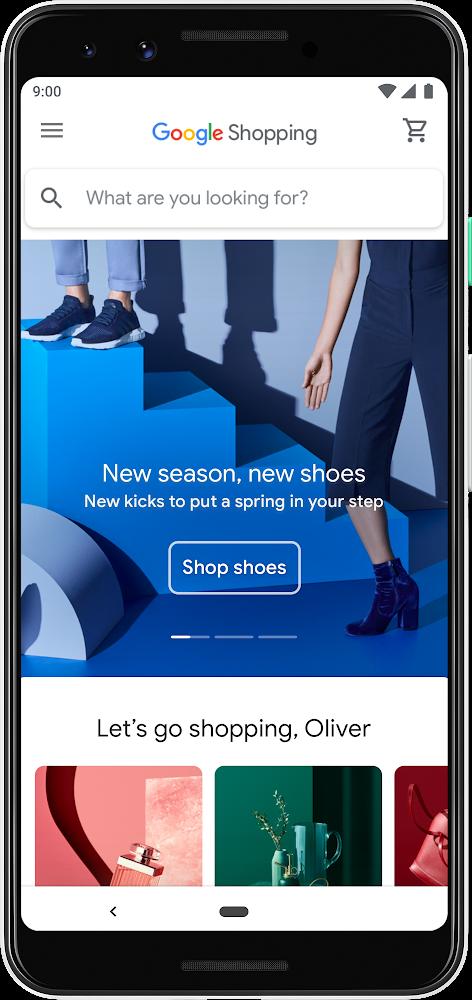 nuevo google shopping home