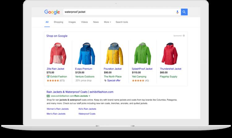 campaña de Google Shopping