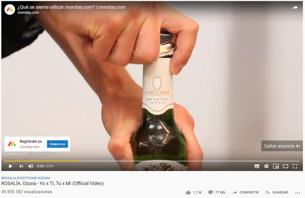 anuncio instream saltable campanas de video google ads
