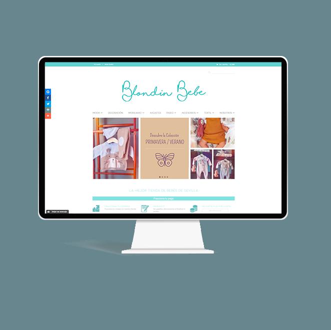 nuevo diseño web blondin bebe diseño grafico