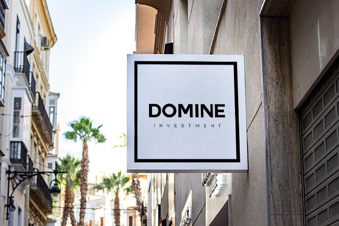 diseño logo exterior domine