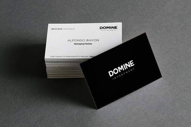 diseño tarjeta corporativa domine