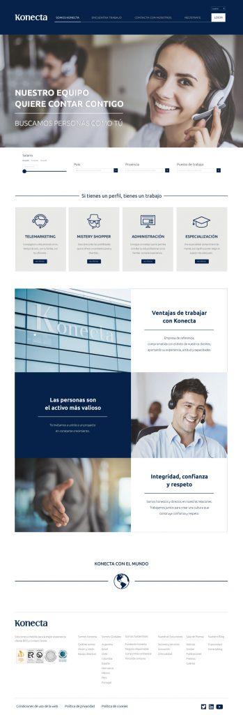 nuevo diseño web konecta