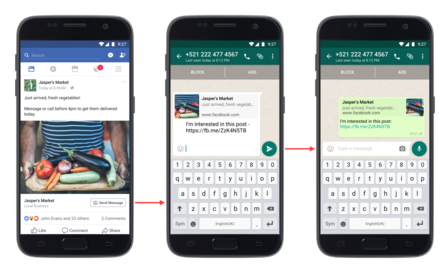 whatsapp para vender en facebook