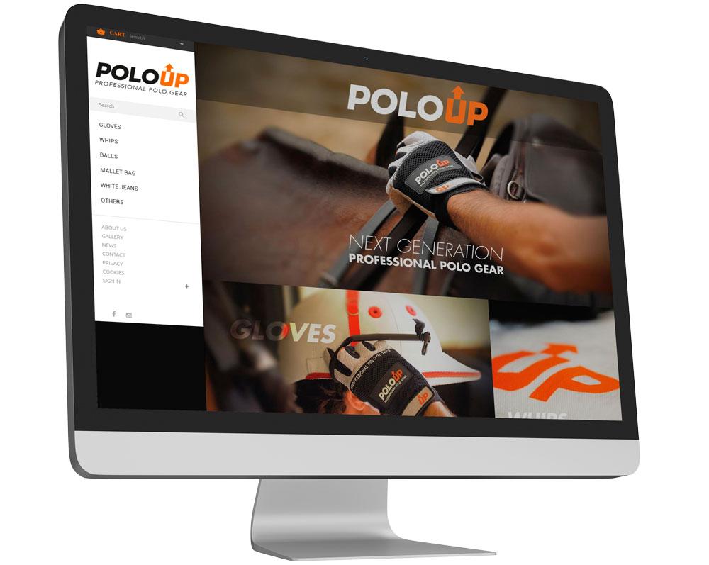 diseño de tienda online polo up