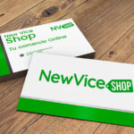 Corporate image design for NewVice Shop