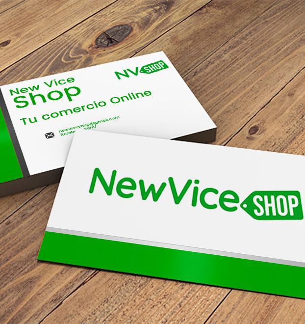 diseño grafico newvice shop
