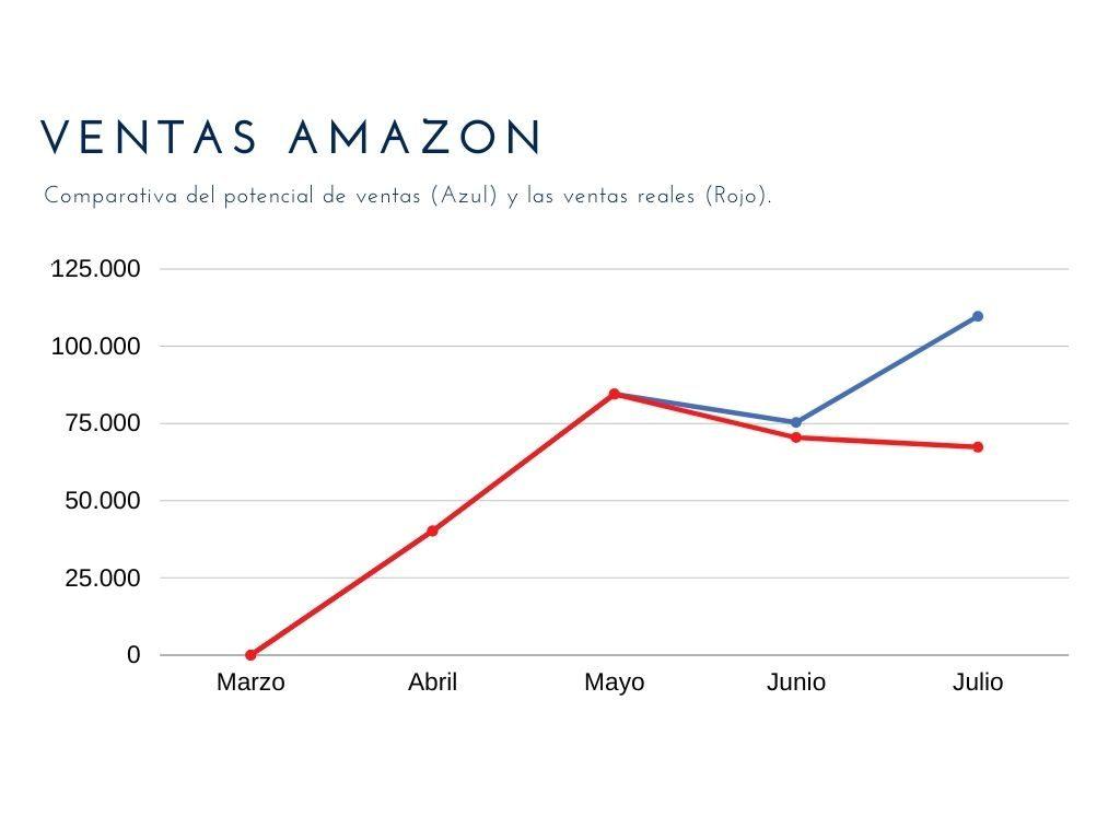 ventas reales en Amazon