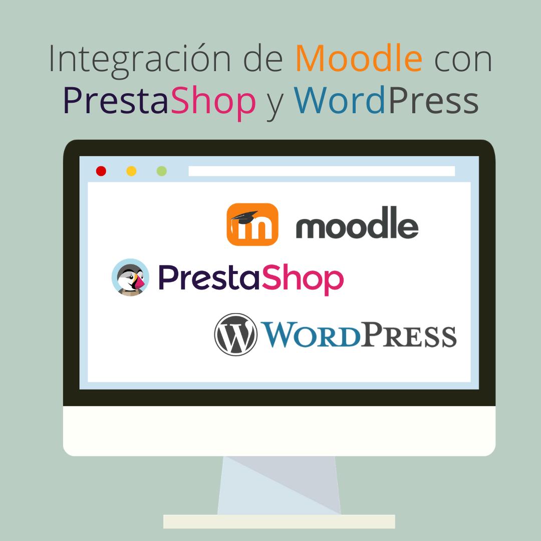Integración de Moodle con Prestashop y Wordpress