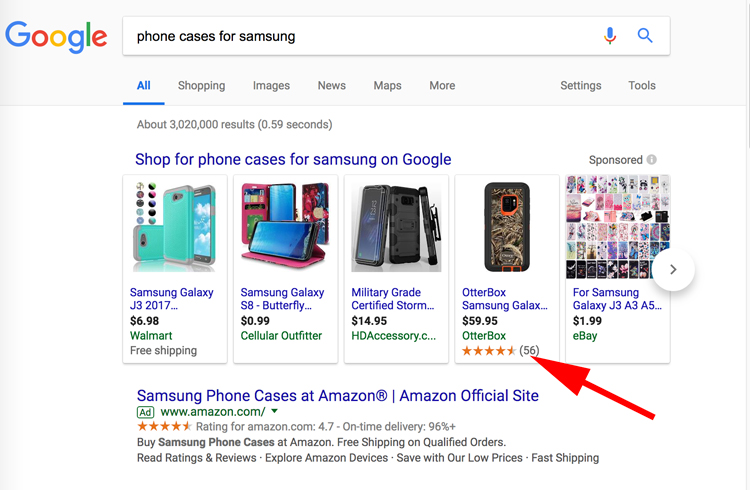 búsqueda y aparicion de anuncios de google shopping