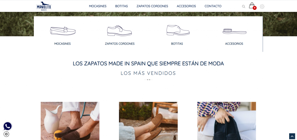 diseño tienda online para Manolito Basics