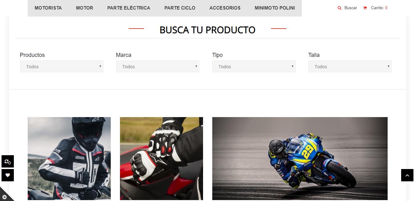 tienda online para HP motorbike