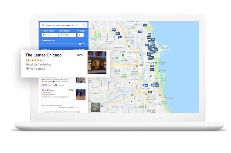 Google hotel maps